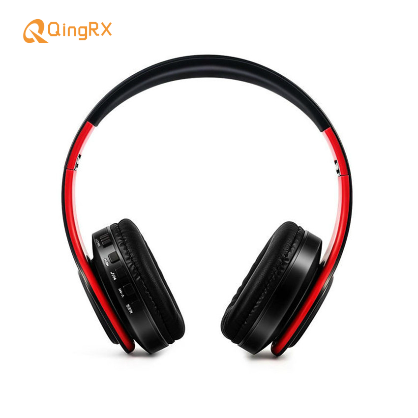 QINGRX  Fashion X11 Wireless Bluetooth Earphones with MP3 Microphone Features Folding Headphones for all Mobile phone computers