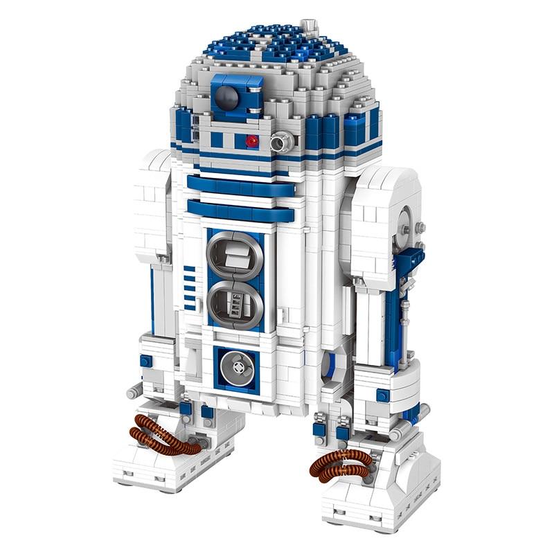 Compatible LegoINGLYS Technic Star Wars UCS Robot Genuine Building Blocks Clone R2-D2 Robot Toy Gift for Kid 2137 Pcs футболка классическая printio r2 d2 star wars dead star