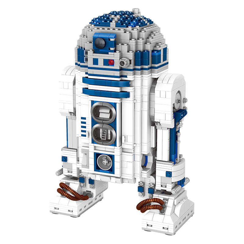 Star Wars Series UCS Robot Genuine Building Blocks Clone R2-D2 Robot Toy Gift for Kid Compatible LegoINGlys Technic 2137 Pcs compatible legoinglys technic series class sports car f40 1158pcs elementary education building blocks toy for children gift