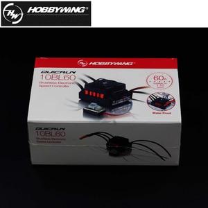Image 5 - 1 adet orijinal Hobbywing QuicRun WP 10BL60 sensörsüz fırçasız hız kontrolörleri 60A ESC 1/10 Rc araba için