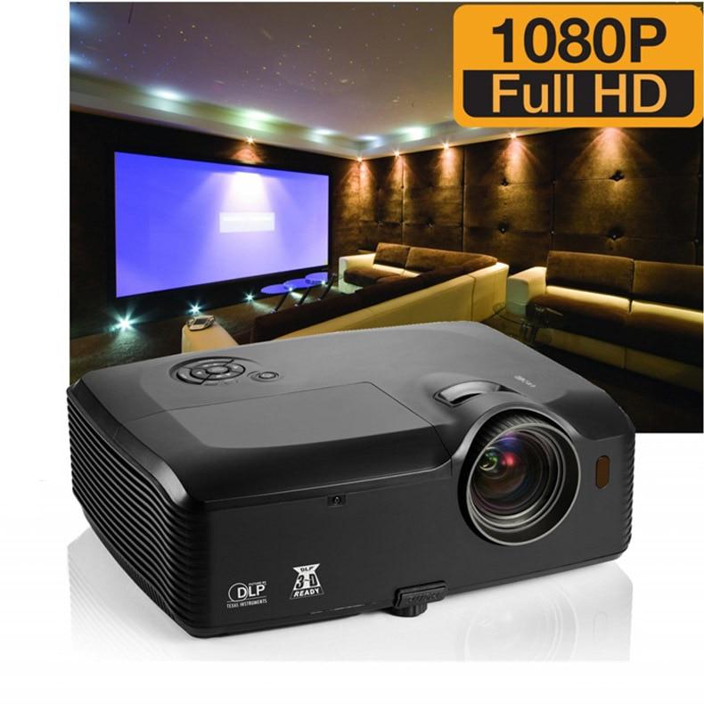 7500 Lúmenes HDMI USB RJ45 Oficina Brillante Full HD 1080 P vídeo Proyector Data