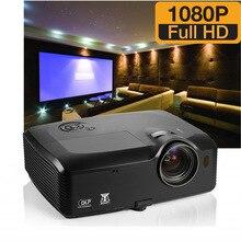 7500 Lúmenes HDMI USB RJ45 Oficina Brillante Full HD 1080 P vídeo Proyector Data Show Trasera DLP 3D Proyector Luz Del Día Al Aire Libre Proyector