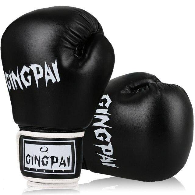 ca1950459 Couro PU macho adulto luvas de boxe treinamento de combate de boxe luvas de  boxe muay