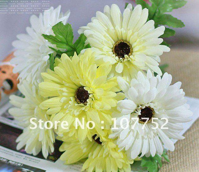 Minorder is 15 mix order yellow green gerbera silk flower for minorder is 15 mix order yellow green gerbera silk flower for mightylinksfo