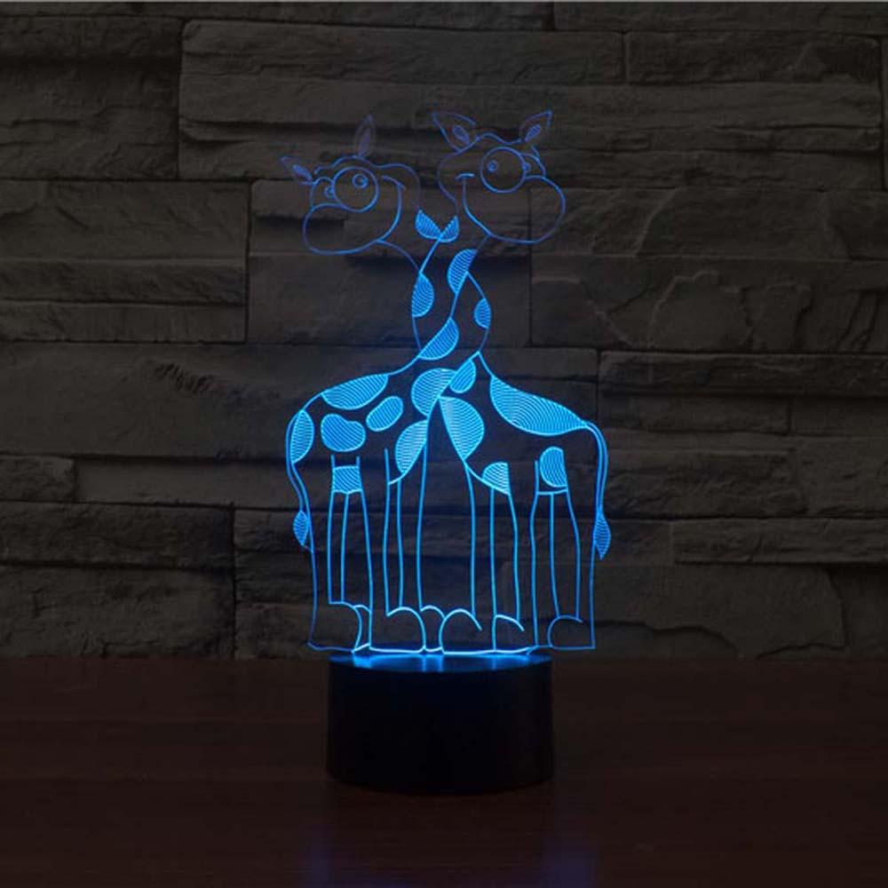3D Giraffe Animal shape creative night Light table lamp as Home Decoration lamp 150w lamp toy decorative pendant lamp - title=