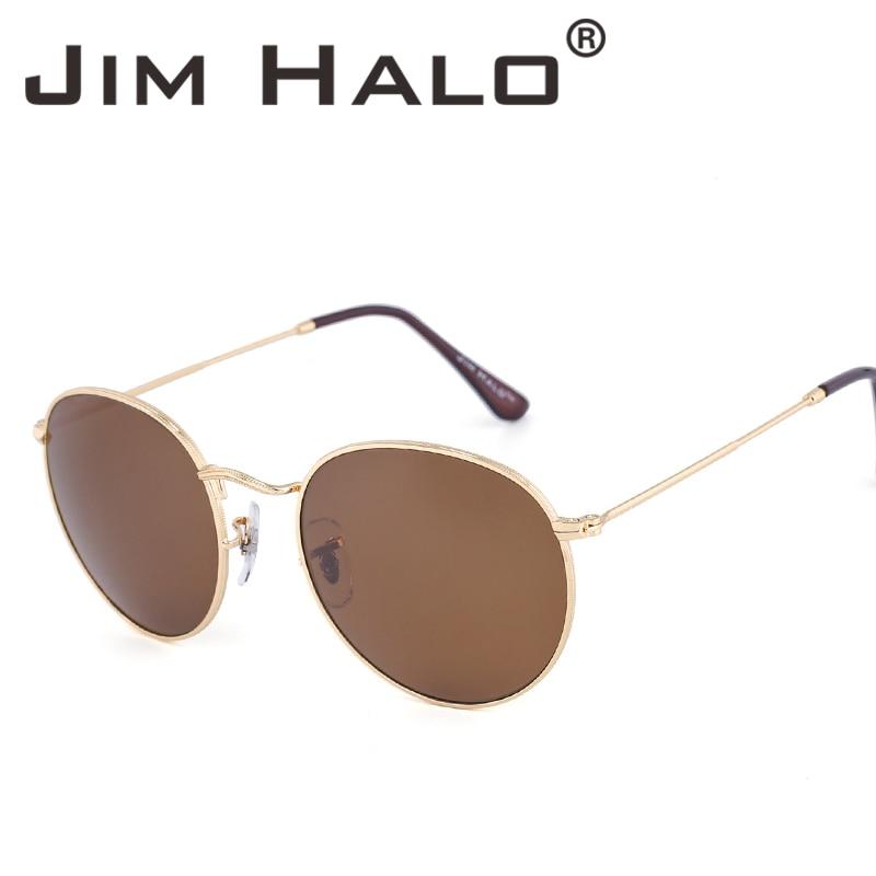 98001caf95c3 Jim Halo Retro Oval Round Steampunk Men Women Sunglasses Classic Vintage  Glasses Mirrored Lens Metal Frame