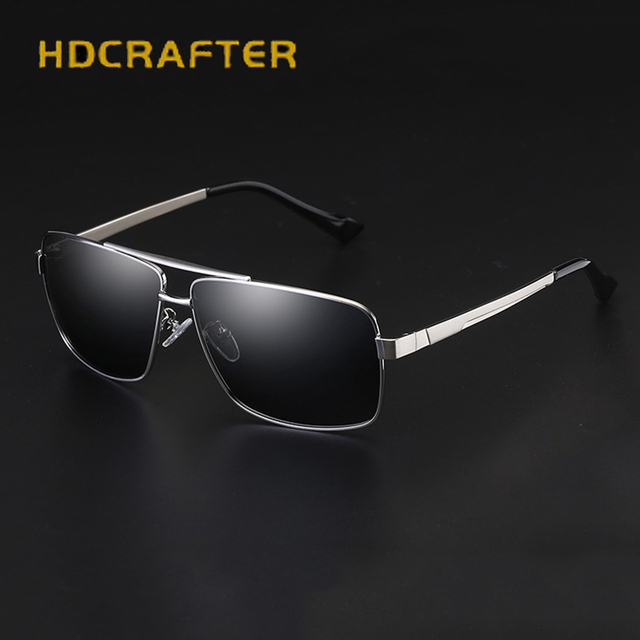 f3aa4ef54 HDCRAFTER 2017 New Arrival Vintage Retro Brand Designer Sunglasses Men Male  Polarized Sun Glasses Gafas Oculos