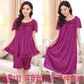 Бесплатная доставка плюс sizeL XXXXL6xl бренд летом стиль пижамы женщин ночное белье продукты секса розовый ночная рубашка платье ночь