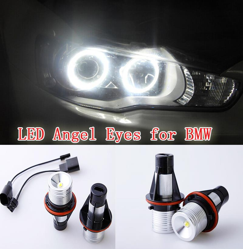Excellent Quality xenon white LED Angel Eyes Halo Light bulb For BMW E83 X3 (2006 2007) E53 X5 (2000 2006) No Error no bulb out warning message 40w h8 led angel eyes halo ring marker light bulbs xenon white 6k for bmw e60 e90 e92 e70 x5 x6