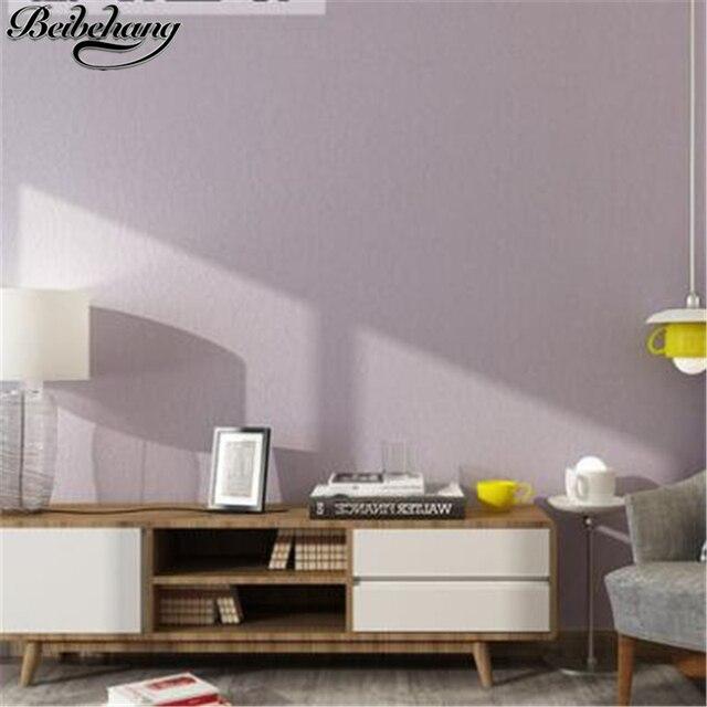 Beibehang Rose non tissés papier peint pur couleur chambre simple ...