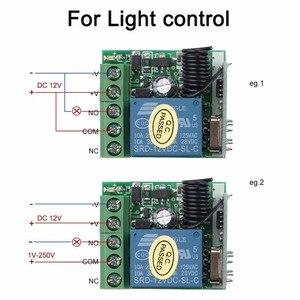Image 2 - Kebidu 1Pc trasmettitore RF telecomandi 433 Mhz con interruttore telecomando senza fili modulo ricevitore relè DC 12V 1CH