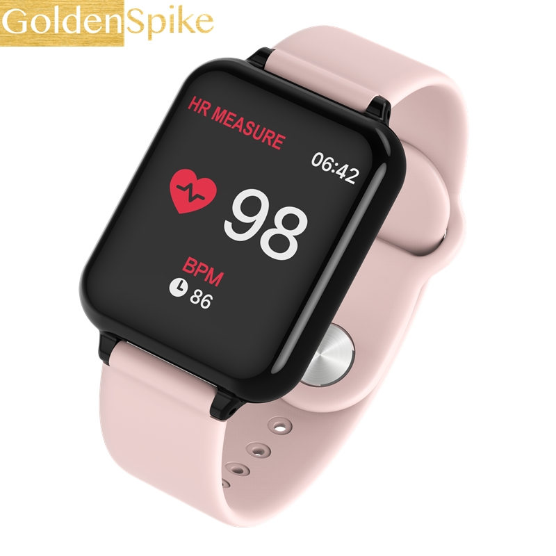 Top B57 PK IWO Women Men Smart Watch Waterproof Sport Smartwatch Heart Rate Monitor Blood oxygen Functions For IOS Android phone