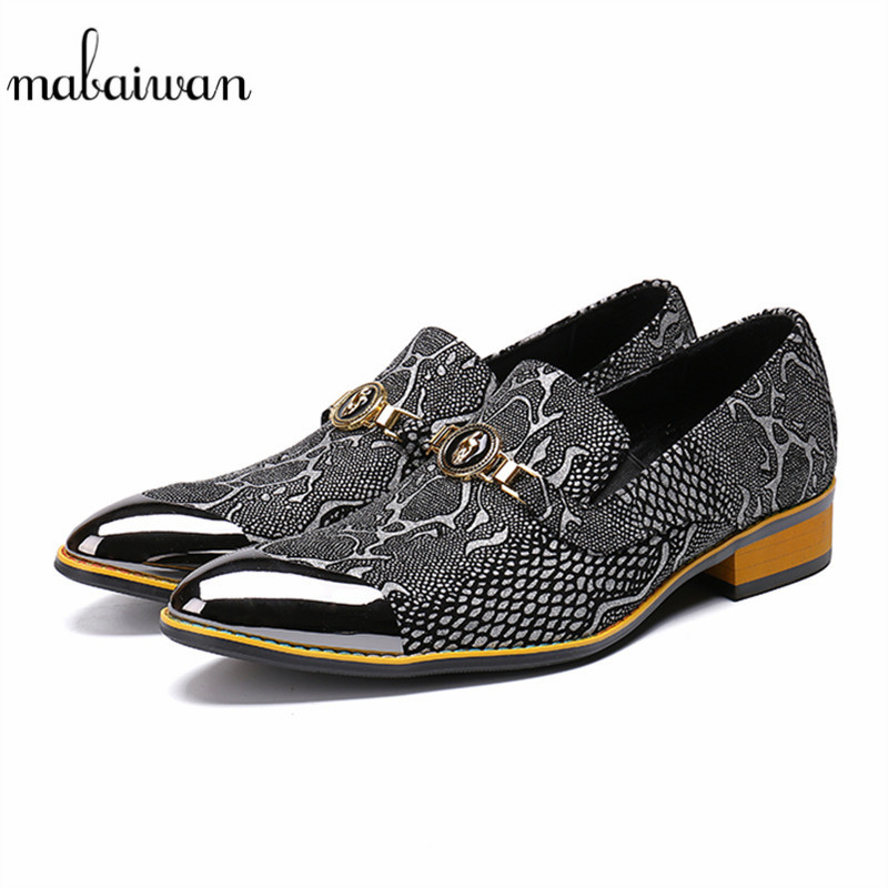 Mabaiwan Luxury Italian Designer Casual Men Shoes Formal Party Dress Shoes Men Metal Toe Slip On Loafers Oxford Business Flats цена