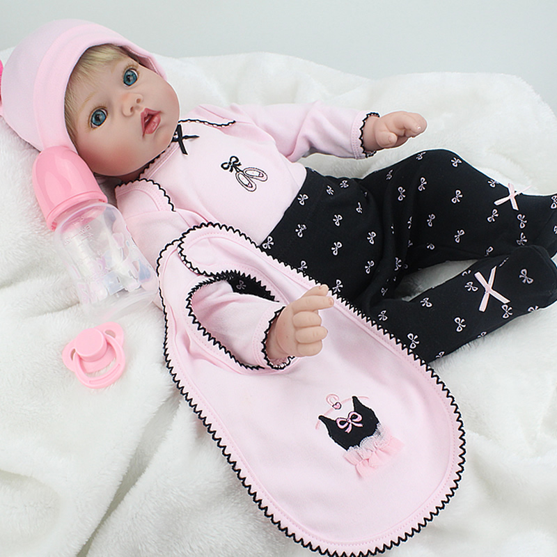 NPK Doll Reborn Baby 55cm Silicone Boneca Vinyl Fashion Dolls Princess Children Birthday Gift Toys for girls hot sales купить