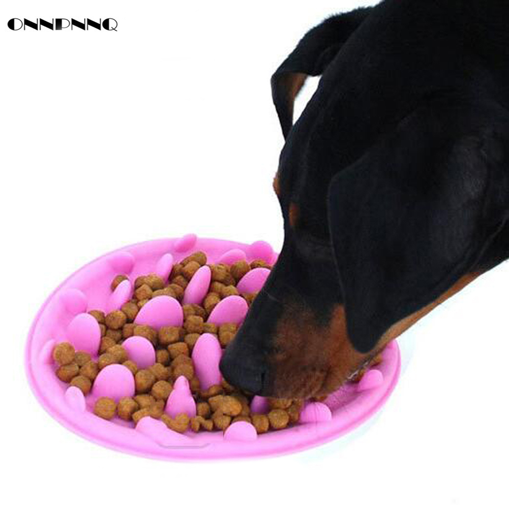 Onnpnnq Pet Dog Cat Silicone Slow Food Bowl Aid Digestion Jungle Feeder Plate Dishes