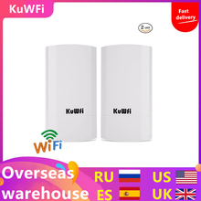 2PCS 300Mbps Wireless CPE Outdoor 2KM P2P Wireless Bridge Router Wifi Repeater Supports WDS Function No Setting with LED Display huawei bm 635 indoor cpe wimax router supports web ui configuration tool