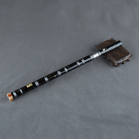 2 section Chinese Flute Handmade Bamboo Wind instrument With Chinese Knot the Most Basic Flute Vertical Blow
