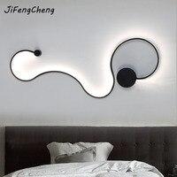 Современный минималистский Творческий настенный светильник светодиодный Спальня стильные дизайнерские Гостиная коридор Loft Home Освещение