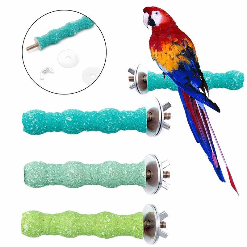 New Colorful Pet Bird Cage Perch Stand Platform 2*8 Paw Grinding Parrot Parakeet for Small / Medium Sized Birds