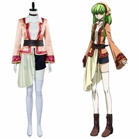 Code Geass Cosplay Lelouch of the Resurrection Season 3 C C Costume Cosplay CC Outfit Suit Halloween Carnival Costume Custom