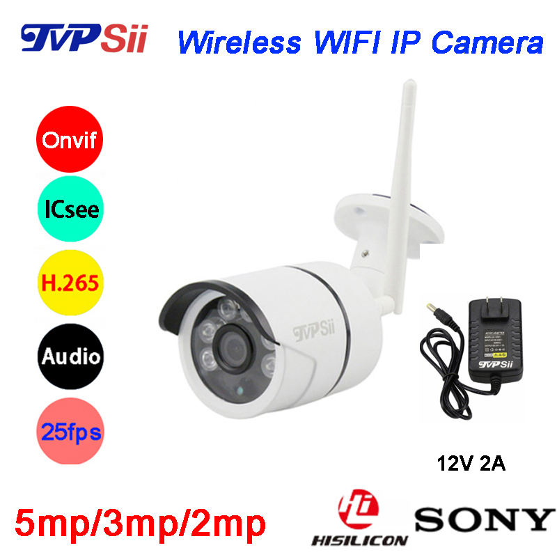 Six Array Leds 5MP 3MP 2MP H 265 ICsee 25fps 128G ONVIF Audio Waterproof WIFI Wireless
