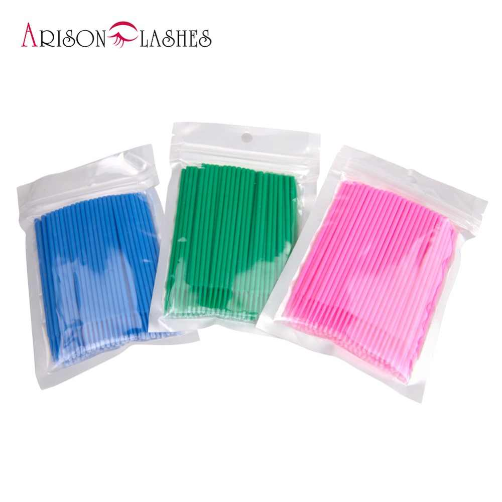 100PCS/Lot Disposable Eyelash Brushes Swab Microbrushes Eyelash Extension Tools Individual Eyelashes Removing Tools Applicators