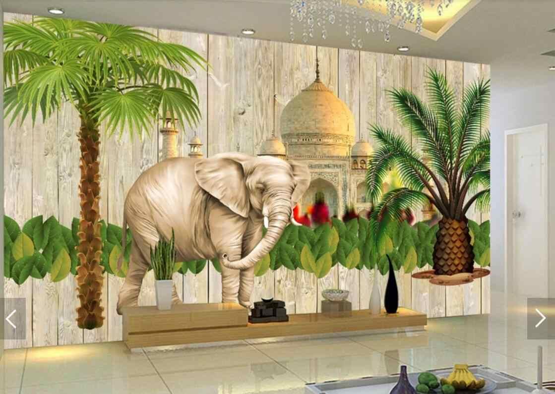 3D Mural Dinding Kertas Indian Gaya Asia Tenggara Wallpaper untuk Living Room Wall Decor Dinding Mural Wallpaper Lukisan Minyak Kanvas