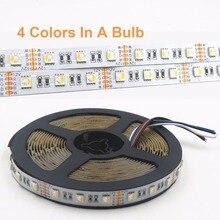 4 в 1 RGBW Светодиодная лента 5050 DC 12 v 24 V гибкий светодиодный свет RGB+ белый/RGB+ теплый белый 4 цвета в 1 светодиодный чип 60 светодиодный/m fita De led