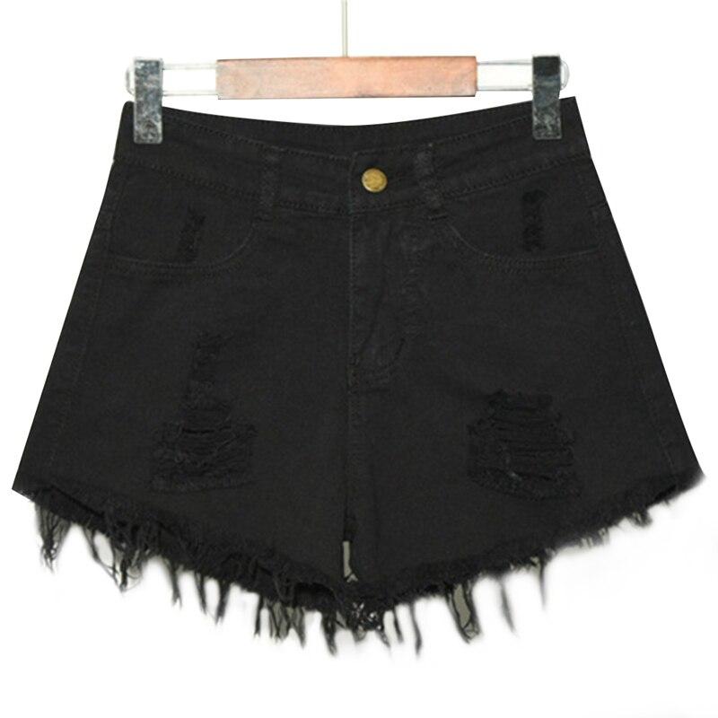 2019 Summer Fashion Denim Short Jeans Women Shorts Jeans Casual Ripped Hole Fringe Shorts