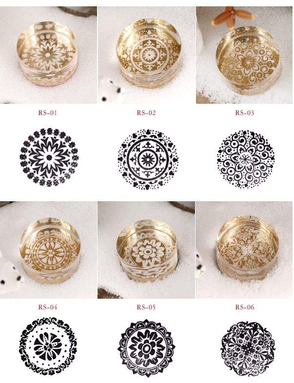 Резиновый штамп, кристалл круглый, Декоративные DIY