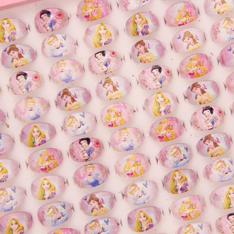 100 st smycken blandade tjejer Lucite barn / barn tecknad tjejer - Märkessmycken - Foto 1
