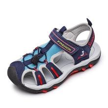 SKHEK Children Sandals 2019 Summer Kids Boys Rubber Sole Slip-Resistant Fashion Child High Quality Beach Sandal Shoes