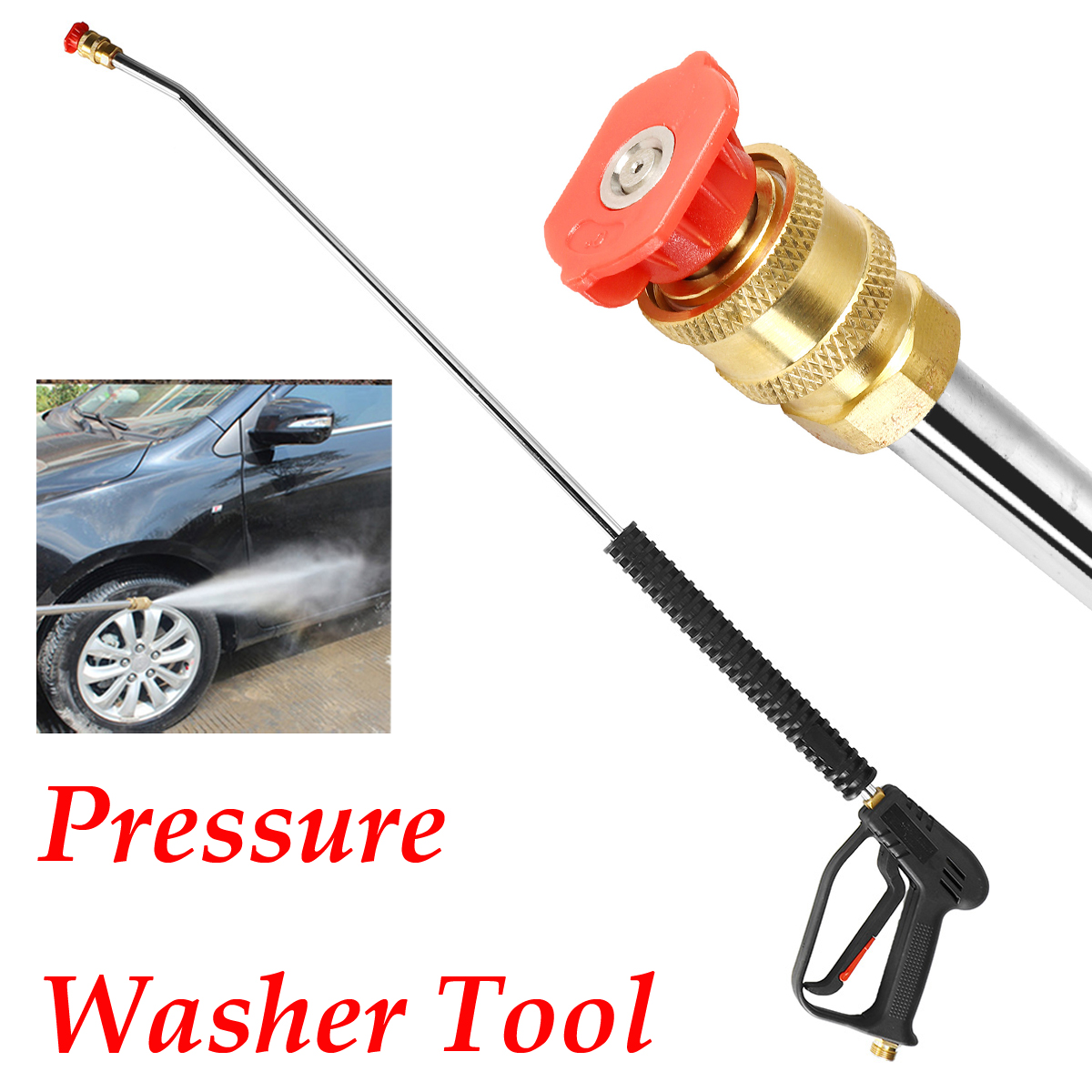 1PC 1065mm Car Pressure Washer Spray-Gun Wand Lance Nozzle Tips M22 Quick Connector Kit for Car Washing Tool pressure washer gun 4000 psi spray gun with 18 extension wand 4 quick connect nozzles 1 soap nozzle for car washers