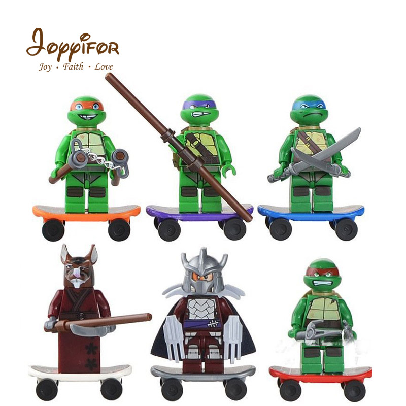 Model Building Joyyifor Teenage Mutant Ninjagoinglys Turtle Animals Building Blocks Figures Bricks Baby Kids Toys Compatible With Legoinglys Can Be Repeatedly Remolded.