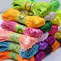 About 20M/lot Korean Silk Rope String Thread DIY Handmade Materials Chinese Knot Wire Bracelet Jewelry Accessories Braided Rope