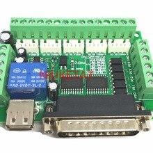 1 шт. MACH3 гравировальный станок 5 оси ЧПУ секционная плата с оптической муфтой для шагового двигателя контроллер привода нет с USB кабелем