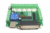 1 stks MACH3 graveermachine 5 Axis CNC Breakout Board Met optische Koppeling Voor Stappenmotor drive controller geen met USB kabel
