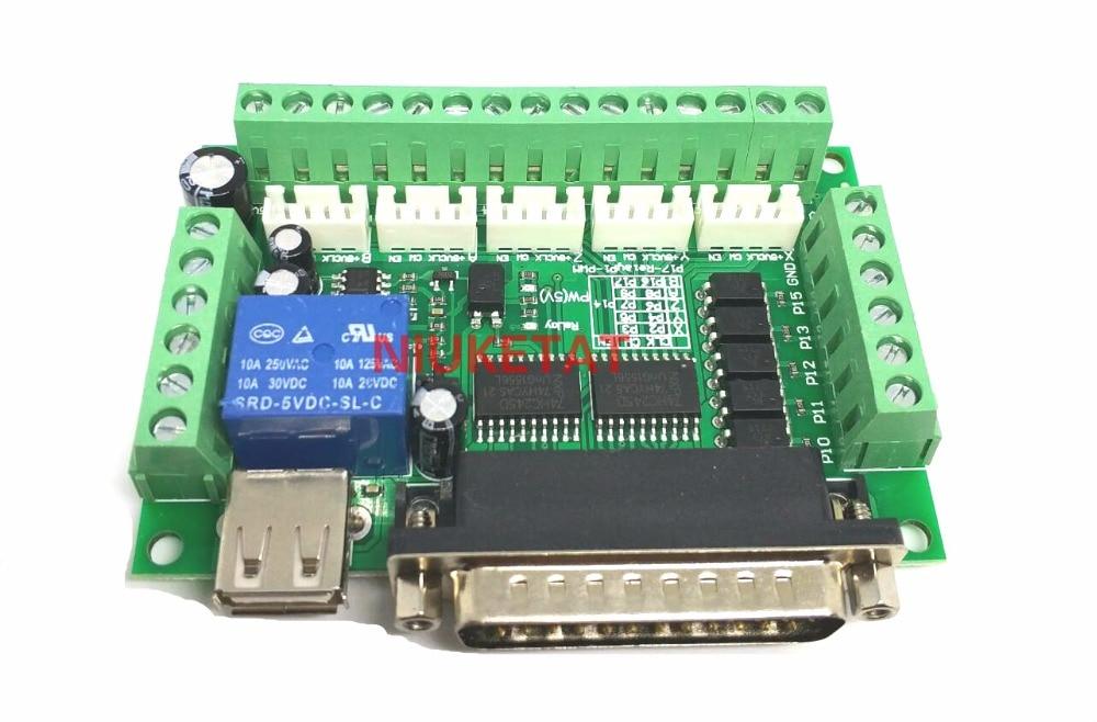 Гравировальный станок MACH3, 5 осей, с ЧПУ, разделочная плата с оптическим соединителем для шагового двигателя, контроллер привода, без USB-кабел...