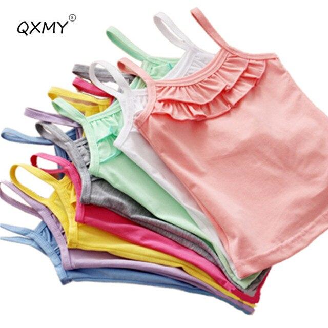 חדש קיץ בנות T חולצת כותנה שרוולים בגד T חולצה עבור בנות חולצות Tees להאריך ימים יותר בגדי תינוק ילדים בגדים 2 -8 שנה