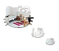 Kostenloser versand Hallo kitty acryl kristall katze wandaufkleber Festival für kinder dekoration, 3 stücke pro set