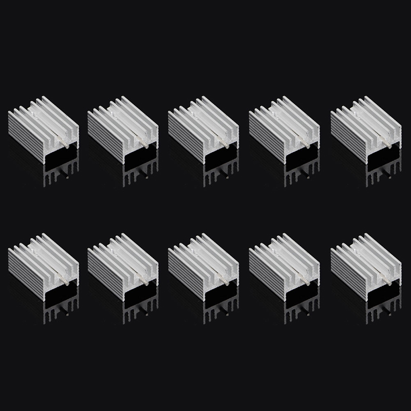 ANENG 10Pcs Aluminum Heatsink Transistor Radiator With Needle for Transistors 10pcs aluminum heatsink transistor radiator with needle for transistors to 220 z09 drop ship