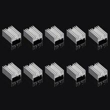 ANENG 10Pcs Aluminum Heatsink Transistor Radiator With Needle for Transistors