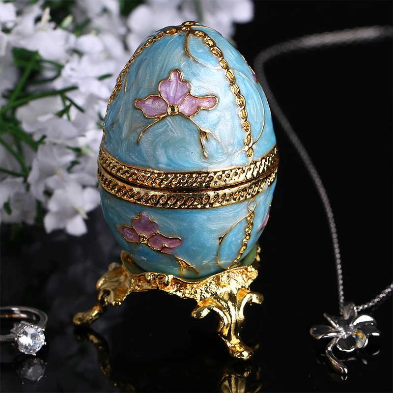 28 new year russian faberge egg jewelry tinket box vintage egg 28 new year russian faberge egg jewelry tinket box vintage egg figurine metal craft gift christmas birthday gifts decoration in figurines miniatures negle Images