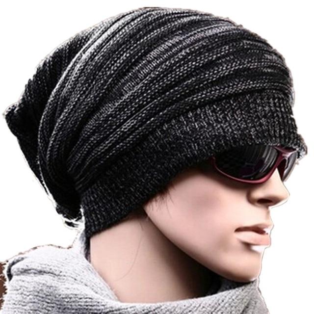 0cbb62c8b560e New Unisex Womens Mens Knit Baggy Beanie Hat Warmer cap Oversized Cap Q35