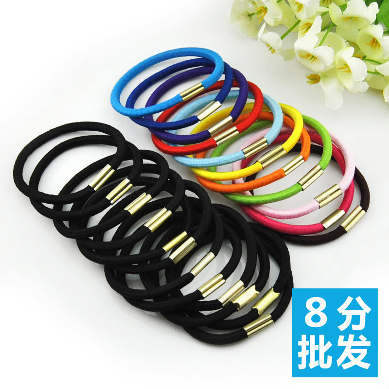 Wholesale 20pc South Korea to fine hair hair headdress rope rubber holster Tousheng stall Yiwu small jewelry wholesale