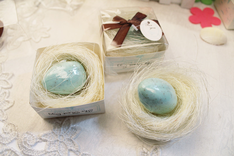 1pcs Mini Fancy Blue egg shaped Soap for wedding Valentine's Day gift,souvenirs Shower Gift Wedding Supplies,summer style