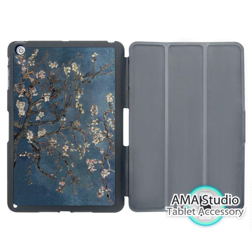 Van Gogh Vintage Flower Cover Case For Apple iPad Mini 1 2 3 4 Air Pro 9.7 Wake UP Sleep настенные фотокартины van gogh fruit df 218