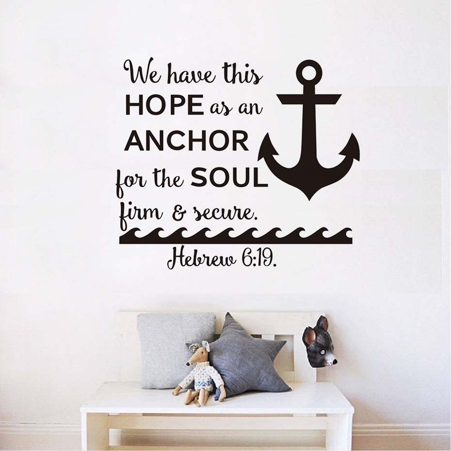 We Can Adjust Our Sails Anchor Art Wall Decal Inspirational Quotes Vinyl Sticker