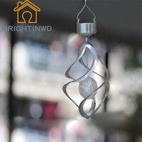 BRIGHTINWD Solar Wind Turnlight LED Silver Golden Solar Wind Curtain Light Home Solar Gift Light 5W Small Chandelier Backyard