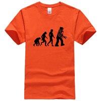2017 T Shirts The Big Bang Theory Robot Evolution T Shirt Tops Summer Casual Men S
